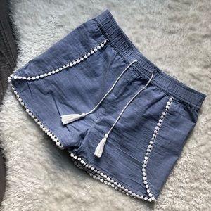Dex girls blue and white shorts size large